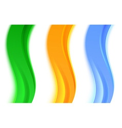 Collection of transparent web headers or dividers vector image