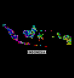 Colored dotted indonesia map vector