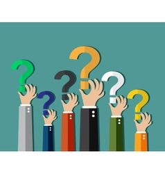 Concept of questioning vector image