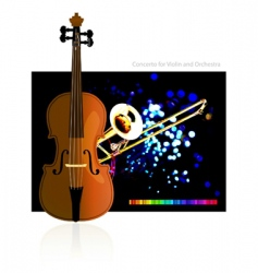 concerto for violin and orchestra vector image