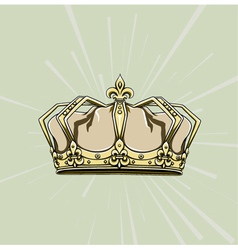 Crown with rays vector