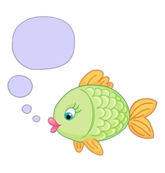 Cute baby fish draw vector