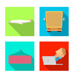 design goods and cargo logo set of vector image