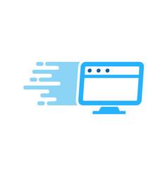 desktop delivery logo icon design vector image