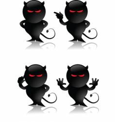 Devil toy vector