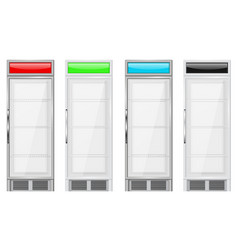 display refrigerator merchandise fridge colored vector image