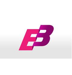 eb logo letter design vector image