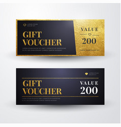 elegant luxury golden gift voucher templates vector image