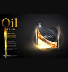 Engine oil advertisement background motor oil vector