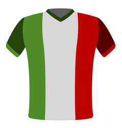 Flag t-shirt of italy vector