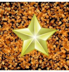 Gold Metal Star vector image vector image