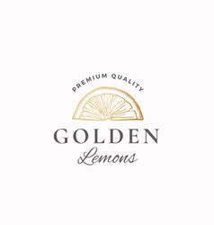 golden lemons abstract sign symbol or logo vector image