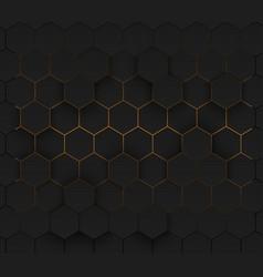 Golden modern futuristic neon background eps 10 vector