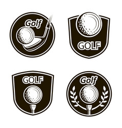 Golf emblems set vector