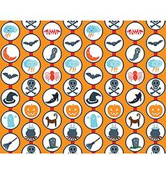 Halloween Set Orange Pattern vector