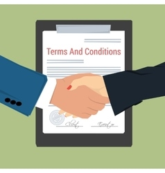 Handshake - terms and conditions vector