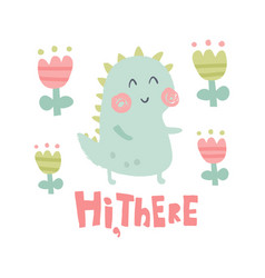 hi there dino vector image