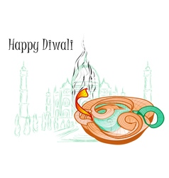 holiday of diwali vector image