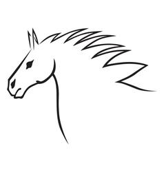 Horse head contour vector