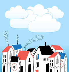House and bubbles for text vector image