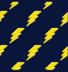 lightning or thunder on the dark blue background vector image