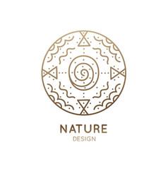 Logo abstract nature vector