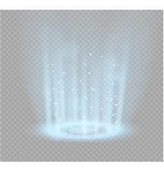Magic portal of fantasy futuristic teleport vector