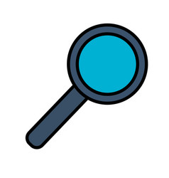 magnifying glass search vector image