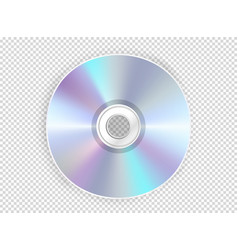 modern compact disc mockup object isolated on vector image