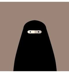 Muslim woman niqab flat avatar vector image