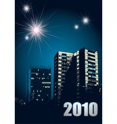 New year 2010 fireworks vector