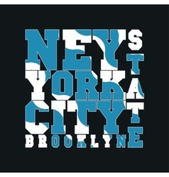 New York typography design graphic vector image