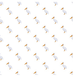 pelican pattern seamless vector image