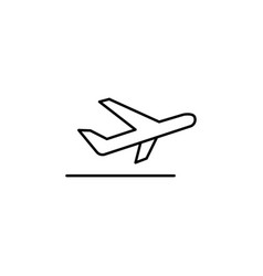 plane signs and symbols can be used for web logo vector image