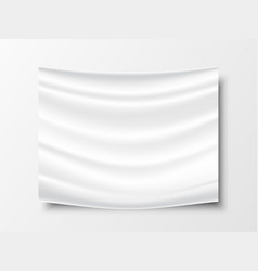realistic white fabric cloth texture with shadow vector image