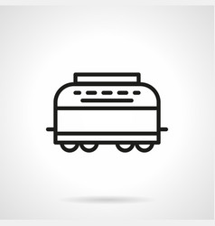Refrigerator-car simple line icon vector