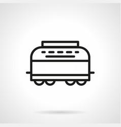 refrigerator-car simple line icon vector image