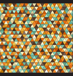 retro triangle pattern seamless vintage vector image