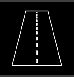 road it is icon vector image