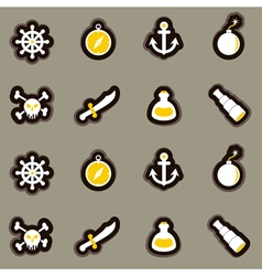 seamless background with pirate stuff vector image