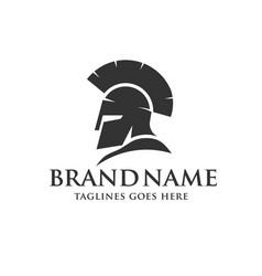Spartan helmet logo vector