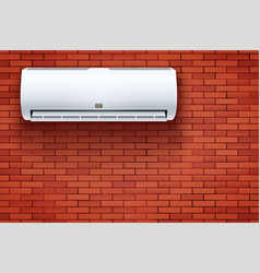 Split air conditioner house system box vector