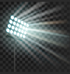 stadium glowing light stadium projector lights to vector image
