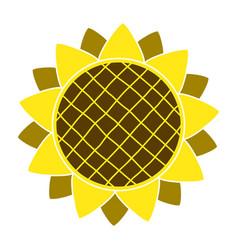sunflower gardening logo symbol icon flat style vector image