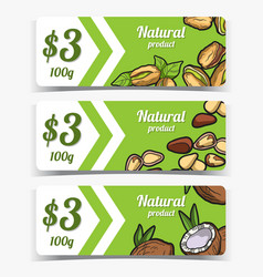 Tags pistachio pine nut coconut vector