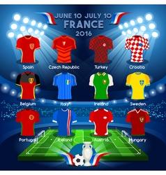 Teams EURO 2016 Championship vector