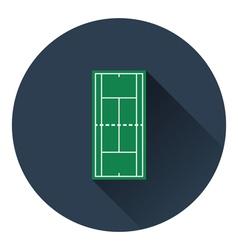 Tennis field mark icon vector image vector image