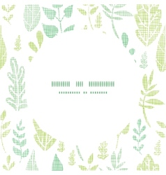 Textile textured spring leaves center frame vector