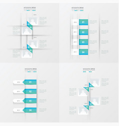 timeline 4 item blue gradient color vector image