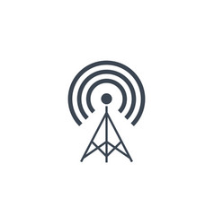 Transmiter related glyph icon vector